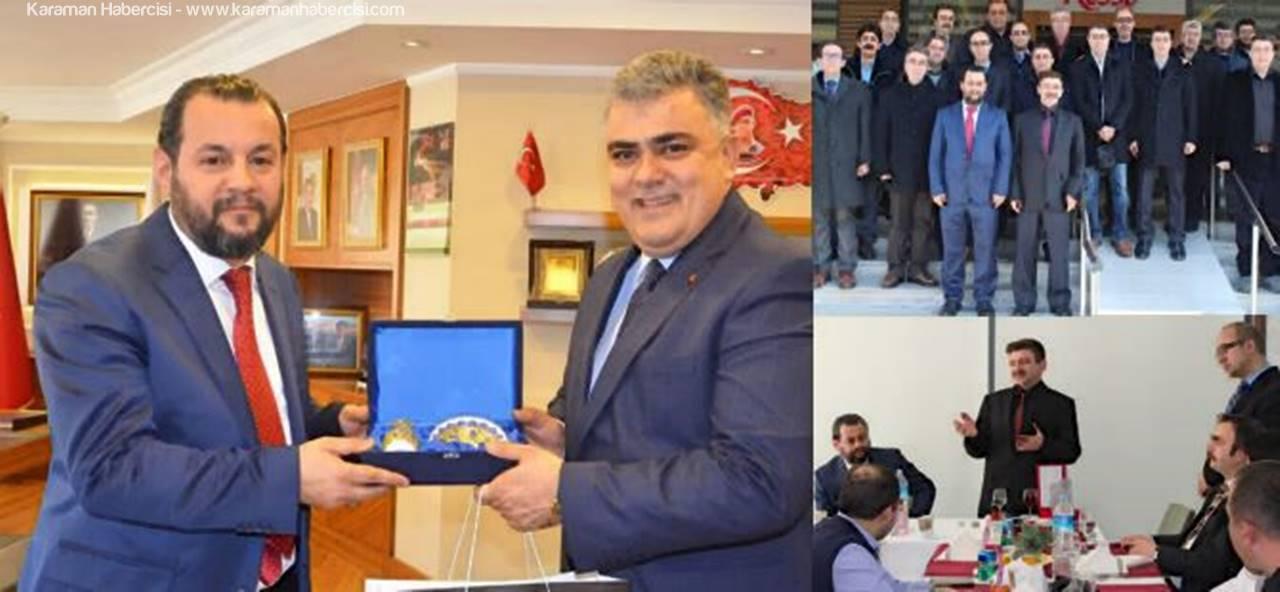 Karaman'da Göreve Başlayan Rektör Akgül'den Ereğli'ye Veda Ziyaretleri