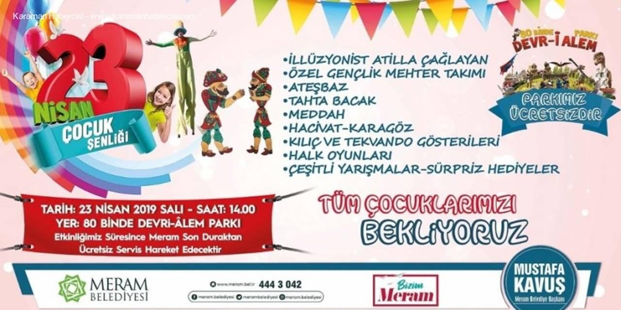 Konya'da 80 Binde Devri Alem Parkı 23 Nisan'da Çocuklara Ücretsiz