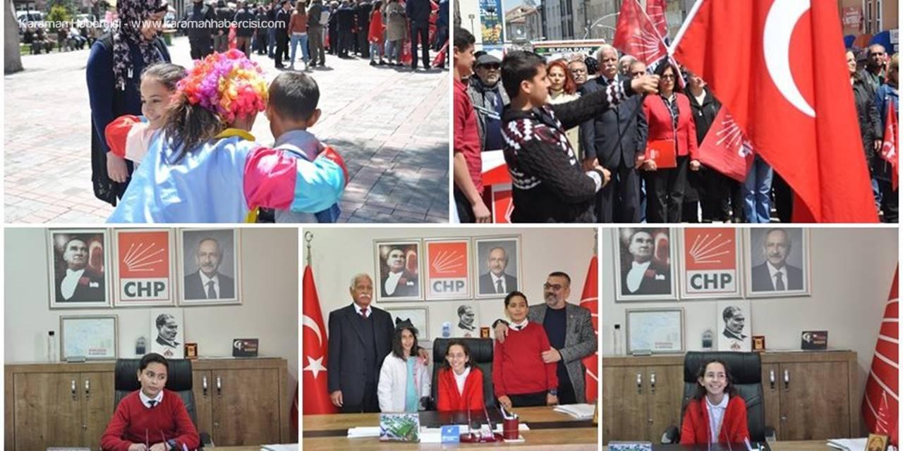 CHP İl Başkanı Kadir Ergin 23 Nisan Nedeniyle Koltuğunu Çocuklara Devretti
