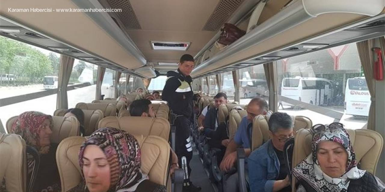 Polisi Ramazan Ayı Öncesi Sürücüleri ve Yolcuları Uyardı