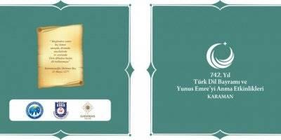 Karaman'da Türk Dil Bayramı ve Yunus Emre'yi Anma Programı Belli Oldu