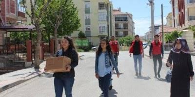 Karaman'da KYK'lı Gençlerden Anlamlı Yardım