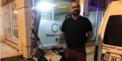 Karaman'da Motosikletini Çalmaya Kalkışan Çocuğu Kıskıvrak Yakaladı