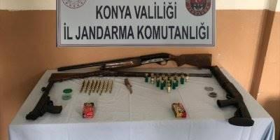 Konya'da Ruhsatsız Silah Operasyonu