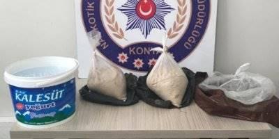 Konya'da Bayram Önlemleri Uygulamasında 2 Kilo Eroin Ele Geçirildi