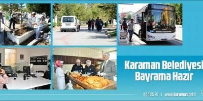 Karaman Belediyesi'nde Bayram Hazırlıkları