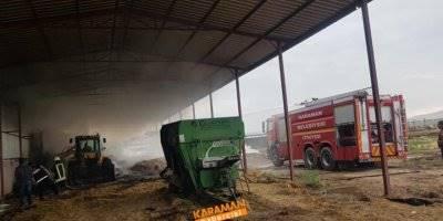 Ortaoba Köyünde Yangın