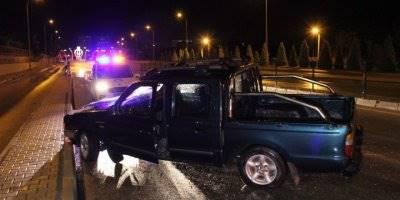 Karaman'da Kayganlaşan Yolda Trafik Kazası