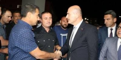 Bakan Soylu, Hatay Emniyet Müdürü Karabörk'ü Ziyaret Etti