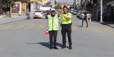 Yunak'ta Engelli Öğrenciler İçin Trafik Uygulaması