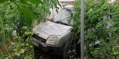 Hafif Ticari Araç Domates Serasına Düştü