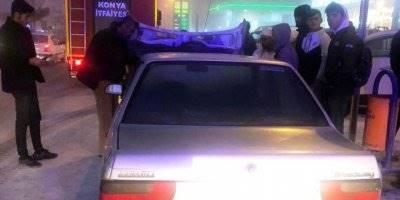 Kulu'da Otomobil Yangını