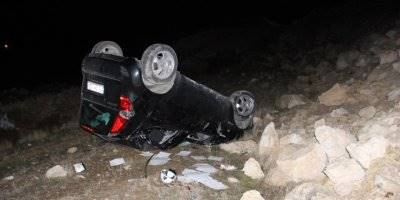 Karaman'da Otomobil Şarampole Takla Attı: 1 Yaralı