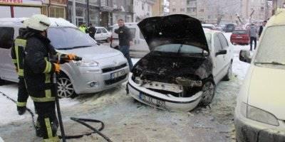 Karaman'da Otomobil Yangını Büyümeden Önlendi