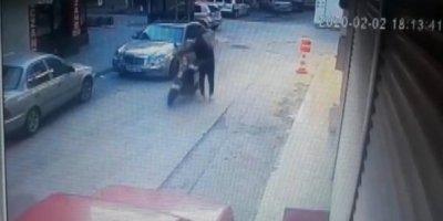 Konya'da Elektrikli Motosikletin Çalınma Anı Güvenlik Kamerasında