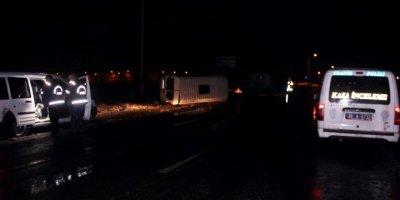 Kayseri'de İşçi Servisleri Çarpıştı: 17 Yaralı