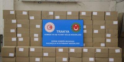 Kapıkule'de 4 Milyon 500 Bin Adet Makaron Ele Geçirildi