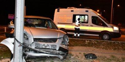 Aksaray'da Trafik Kazası : 2 Otomobil 2 Yaralı