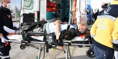 Aksaray'da Alkollü Motosikletli Kaza Yaptı