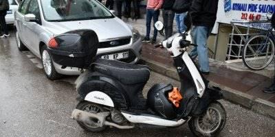 Aksaray'da Otomobil Motosiklete Çarptı: 1 Yaralı