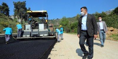 Alanya Belediyesinin Asfaltlama Çalışmaları