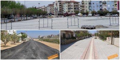 Karaman'da Meydan ve Yollarda Yenileme Çalışmaları
