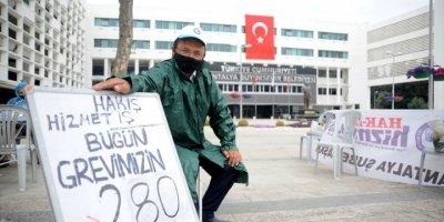 Antalya'da Tek Kişilik Grevde 280 Gün Geride Kaldı