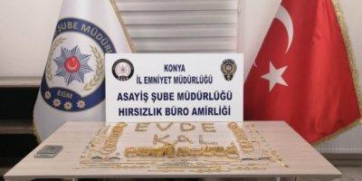 Konya'da Sarraf Hırsızları Yakalandı