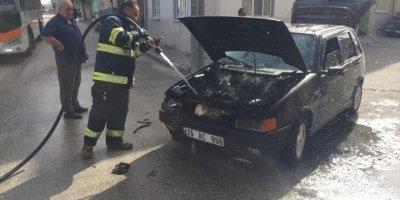 Eskişehir'de Seyir Halindeki Otomobilde Çıkan Yangında Hasar Oluştu
