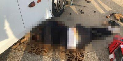 Konya'da Lastiği Değiştirmeye Çalışırken Otobüsün Altında Kalan Şoför Öldü