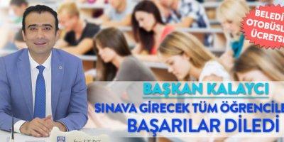 Karaman Belediye Başkanı Savaş Kalaycı Öğrencilere Başarı Diledi