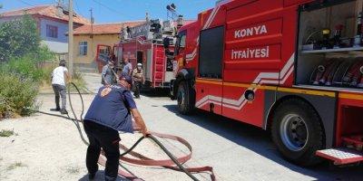 Konya'da Yangın Paniği