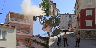 Karaman'da Alevlerin Yükseldiği Çatı Yangını Söndürüldü