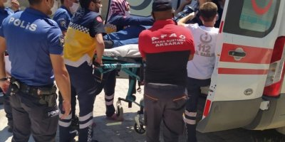 Aksaray'da Bahçe Demiri Engelli Gence Saplandı