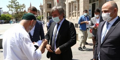 Aksaray Valisi Hamza Aydoğdu, Esnafları Ziyaret Etti