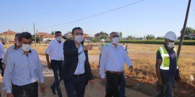 Karaman'da Fatih Mahallesinde Doğalgaz Çalışmaları