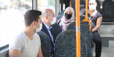 Bakan Soylu, Otobüse Binip Vatandaşı Uyardı