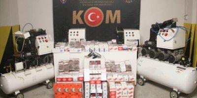 Eskişehir'de Kaçak Sigara Üretimine Baskın
