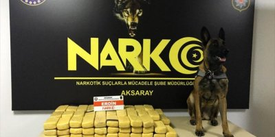 Aksaray'da 49 Kilo 800 Gram Eroin Ele Geçirildi