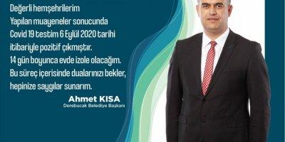 Derebucak Belediye Başkanı Kısa'nın Kovid-19 Testi Pozitif Çıktı