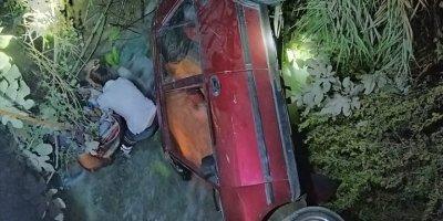 Mersin'de Otomobil Sulama Kanalına Devrildi: 1 Ölü, 2 Yaralı
