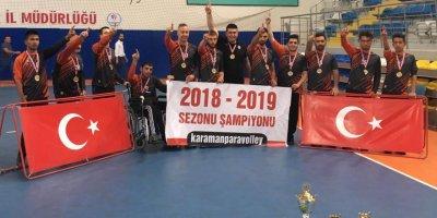 Karaman Oturarak Voleybol Takımları Türkiye'de Bir İlke İmza Attı