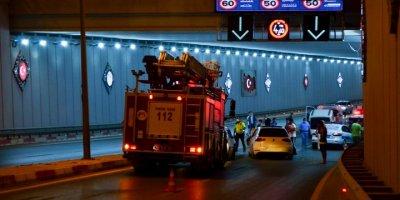 Mersin'de Alt Geçitte Zincirleme Trafik Kazası