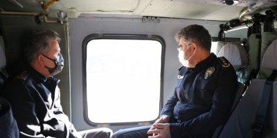 Kayseri'de Jandarmadan Helikopter Destekli Trafik Denetimi