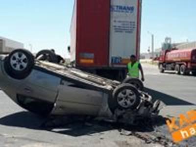 Karaman OSB'de Trafik Kazası:1 Yaralı