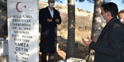Karaman'da Şehit Öğretmen Unutulmadı