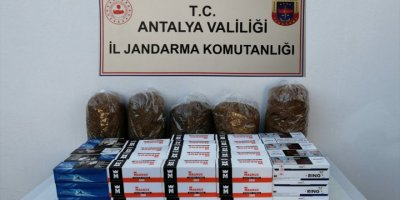 Antalya'da Kaçak Tütün Satan 2 Kişiye İdari Yaptırım Cezası Uygulandı