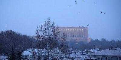 Ankara Güne Beyaz Örtü İle Uyandı
