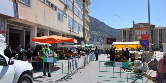 Ermenek'te Koronavirüs Dolayısıyla Cuma Pazarı Düzenlemesi