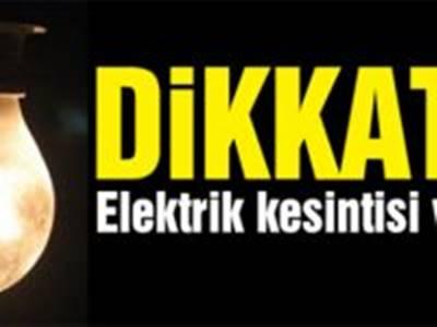 Kazımkarabekir'de Elektrik Kesintileri